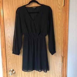 Express Black Shift Dress